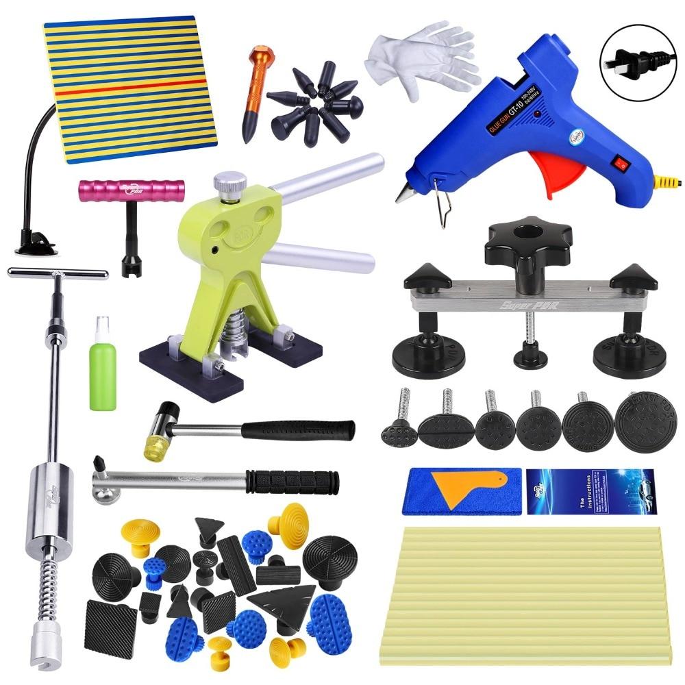 PDR Car Tool Kit Tools Auto Repair Body Dent Remover Repair Tools Set Dent Puller Bodywork Panel Repair Kit With Glue Tabs цена
