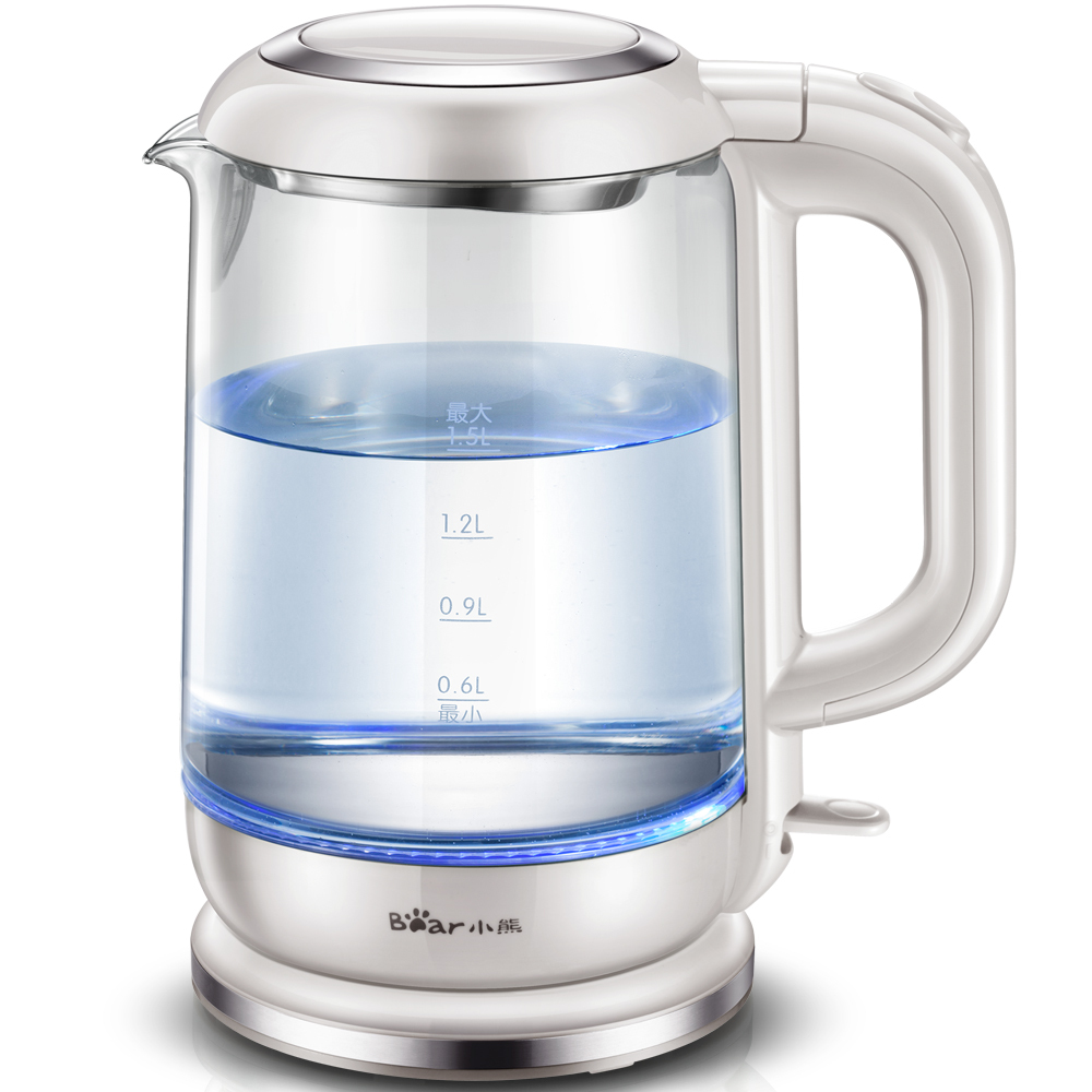 цены Bear 1.5L Led Light Electric Kettle Preserving Pot with Dry Boiling Function Stainless Steel ZDH-A15D1