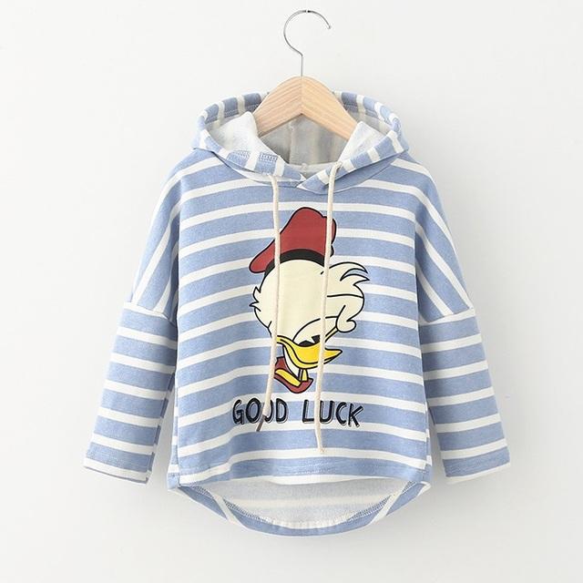 Niños camisetas de los Hoodies Para Los Muchachos Personaje del Pato de Los Niños Encapuchados Ropa de Gaza Para 2-7 Años