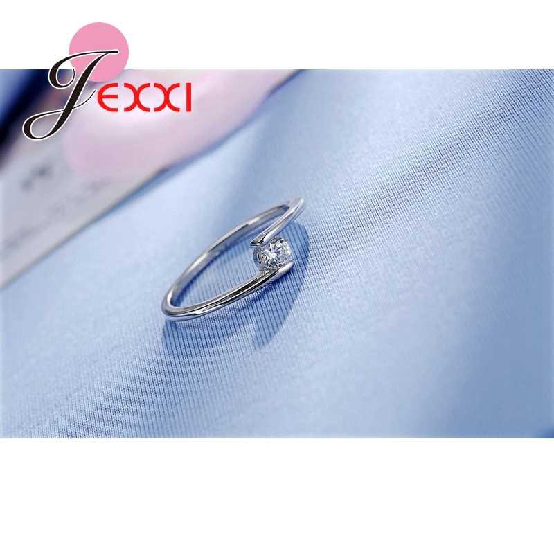 925 スターリングシルバーリングファッションジュエリーヴィンテージリング女性の結婚式婚約記念ギフトビジューアクセサリー