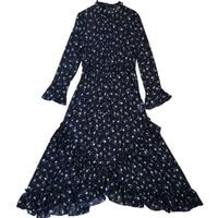 Весна Лето Высокое качество 2019 дизайнерское модное винтажное платье с широкими расклешенными рукавами элегантное платье повседневное пла