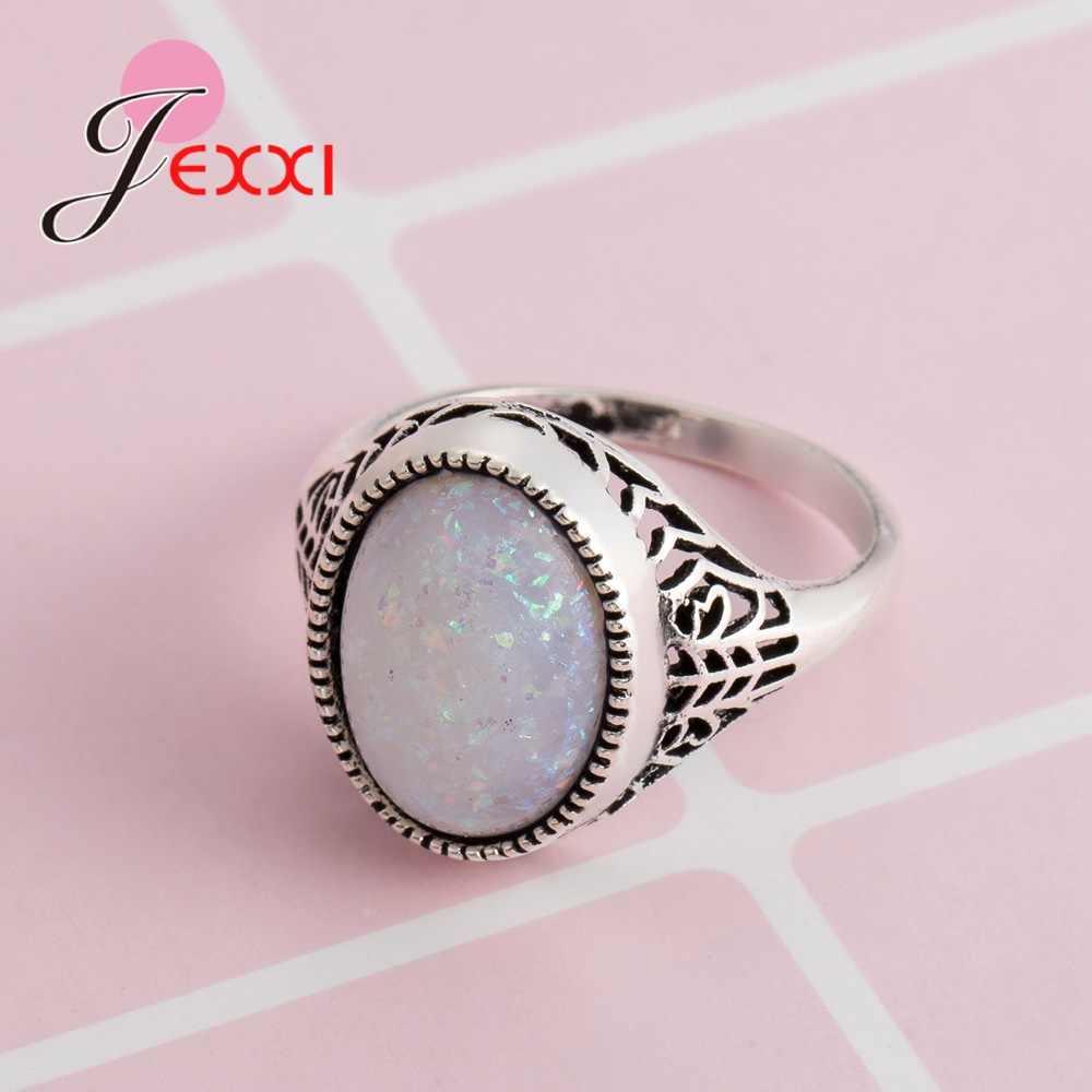 אש עגול צורת אופל טבעת נשים שנה מינוי תכשיטי הצהרת איכות גבוהה אמא יום הולדת מתנה פופולרי