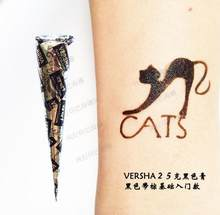 Black brown red white Henna Cones Indian Henna Tattoo Paste For Temporary Tattoo body art Sticker Mehndi Body Paint(China)