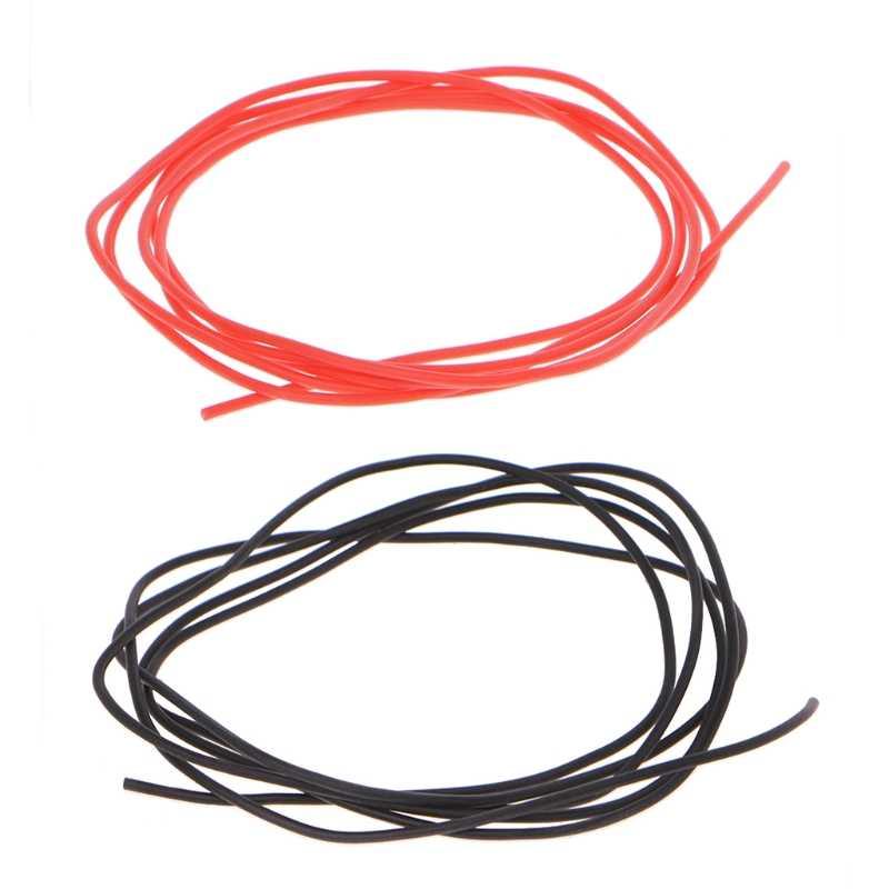 1M 28AWG Flexible Silicone fil RC câble doux résistant haute température #0604