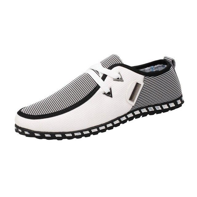2018 ניו הגעה גברים שטוח נעלי אופנה שרוכים סתיו נעליים יומיומיות מעורב צבעים דירות חיצוני רך לנשימה קיץ נעליים