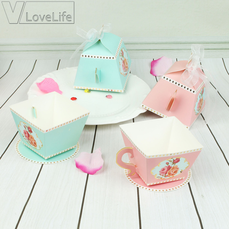 Wedding Gifts For Bridal Party: 10Pcs Candy Boxes Tea Party Favors Wedding Gifts For