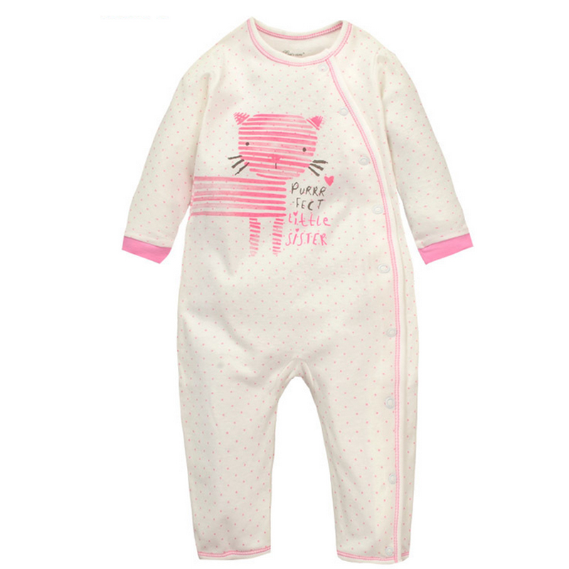 Lower Price with Baby Girls Romper one-piece Cats And Pizza 6-12 Months
