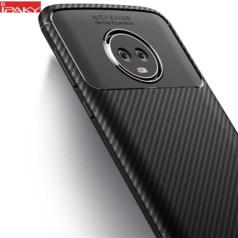 Moto G6 Case IPAKY- ի համար Moto G6 Plus Case Silicone TPU - Բջջային հեռախոսի պարագաներ և պահեստամասեր - Լուսանկար 1