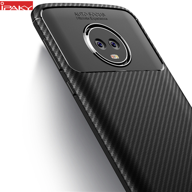 classic fit 0f381 97798 US $3.89 22% OFF|for Moto G6 Case IPAKY for Moto G6 Plus Case Silicone TPU  Carbon Fiber Back Hybrid Armor Shockproof for Moto G6 Play Case-in Fitted  ...