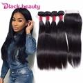 8A Peruvian Virgin Hair With Closure 4 Bundles Human Hair Weave With Closure Peruvian Straight Hair Bundles With Lace Closure
