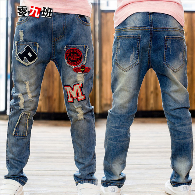 Children's Clothing Boys Jeans Casual Fashion Denim Trousers Autumn & Spring Cowboy Pants For Male Boy Size 110-160 High Quality