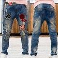 Niños ropa de Chicos Vaqueros Casuales Pantalones de Mezclilla de Moda Otoño y Primavera Pantalones Vaqueros Para Hombre Boy Tamaño 110-160 de Alta Calidad