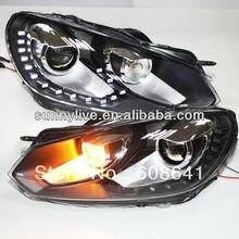 Для VW 15 Светодиодный Golf 6 головной светильник линзы проектора bi xenon 2009 к 2011 V5 Тип