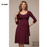 Nursing Maternity Clothes High Quality Maternity Elegant Evening Party Dresses For Pregnancy Black Skirt Office Lady