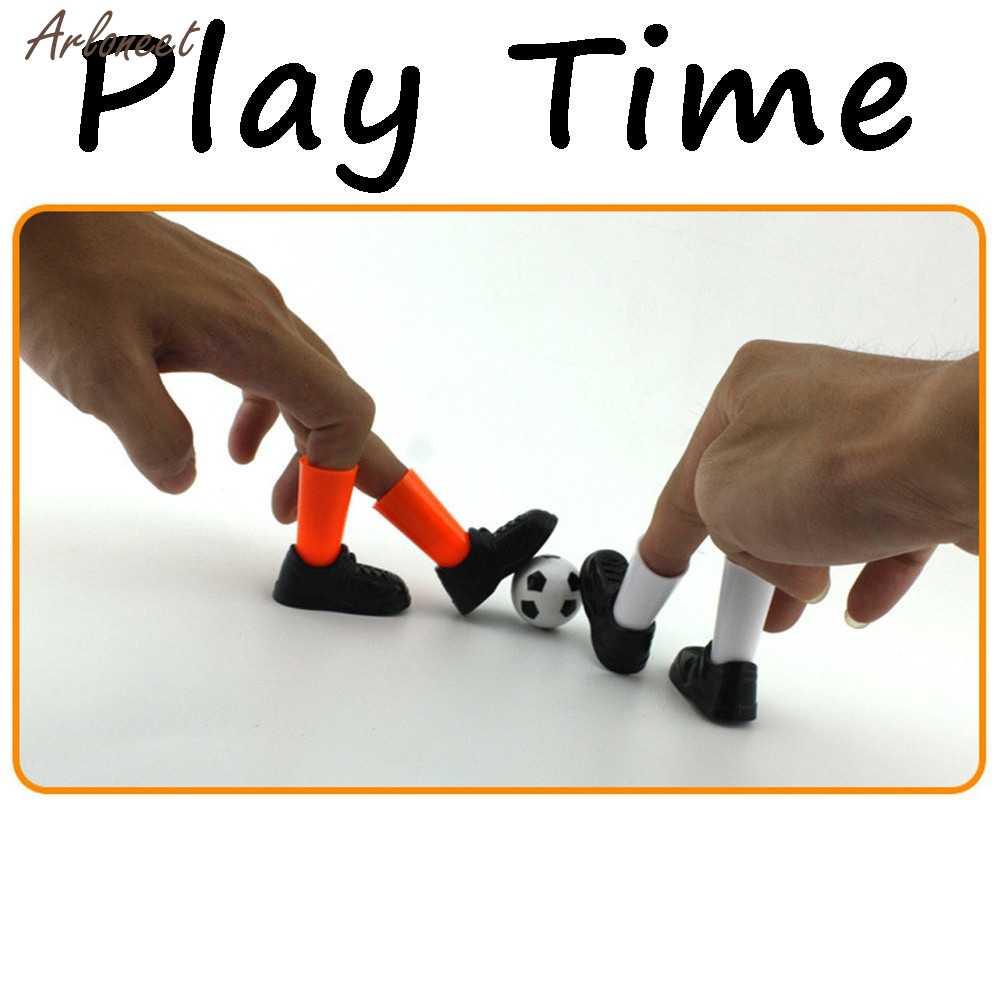 おかしいガジェット理想的なパーティー指サッカーの試合のおもちゃおかしいフィンガーおもちゃゲームセット 2 目標ノベルティおかしいのおもちゃ子供