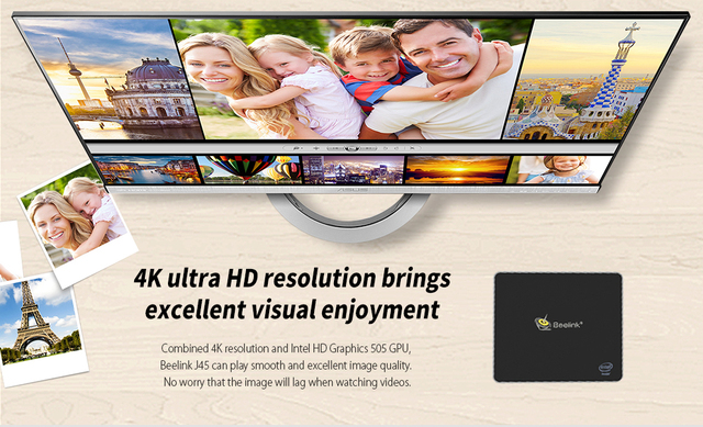 Beelink J45 8GB 128GB J4205 Genuine Windows 10 Mini PC 128/256/512GB 2.4GHz+5.8GHz WiFi BT4.0 Support Netfix 4K H.265 5