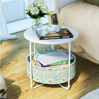 Creative Coffee Table Simple Multi Functional Storage Angle Two Or Three Layers Of Sofa Side Table