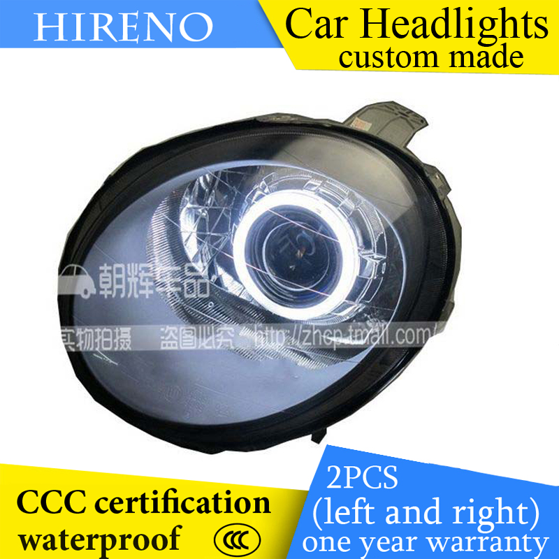 Hireno custom Modified Headlamp for Chevrolet Spark Headlight Assembly Car styling Angel Lens Beam HID Xenon 2 pcs hireno headlamp for cadillac xt5 2016 2018 headlight headlight assembly led drl angel lens double beam hid xenon 2pcs