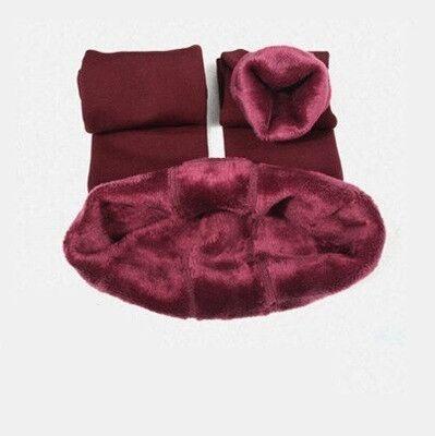 CHRLEISURE Warm Women's Plus Velvet Winter Leggings Ankle-Length Keep Warm Solid Pants High Waist Large Size Women Leggings 7