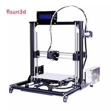 2016 New Aluminium Structure flsun3d 3D Imprimante DIY Prusa i3 3d Imprimante Kit Chauffée Lit Deux Rolls Filament SD Carte