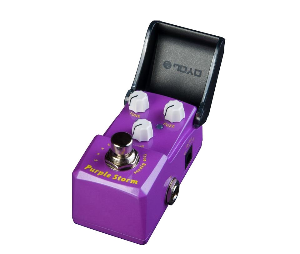 JOYO Fuzz Distortion Guitar Effect Pedal Purple Storm Mini Ironman Series JF-320 joyo jf 320 ironman series electric guitar mini effect pedals purple storm fuzz pedal