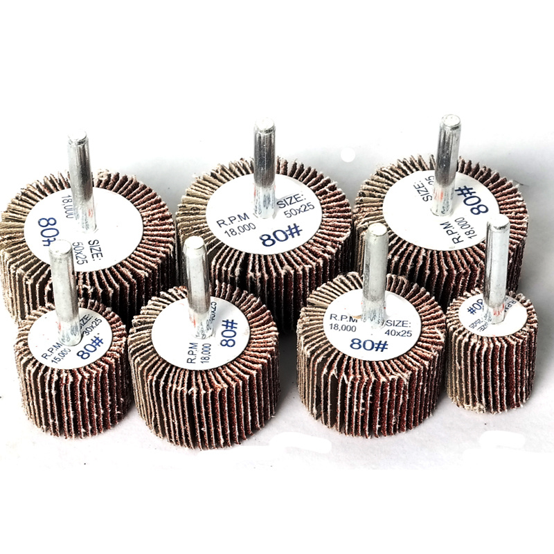2pcs Durable Polishing Grinding Head Sanding Flap Disc Grinding Wheels Dremel Accessories Brush Sand Rotary Tool