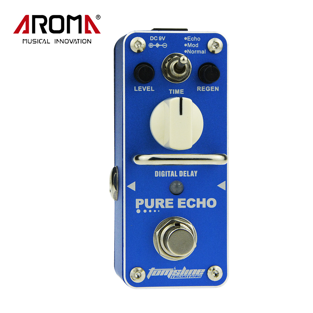 AROMA APE-3 Pure Echo Mini Single Digital Delay Effect Electric Guitar Effect Pedal True Bypass aroma aos 3 octpus polyphonic octave electric guitar effect pedal mini single effect with true bypass