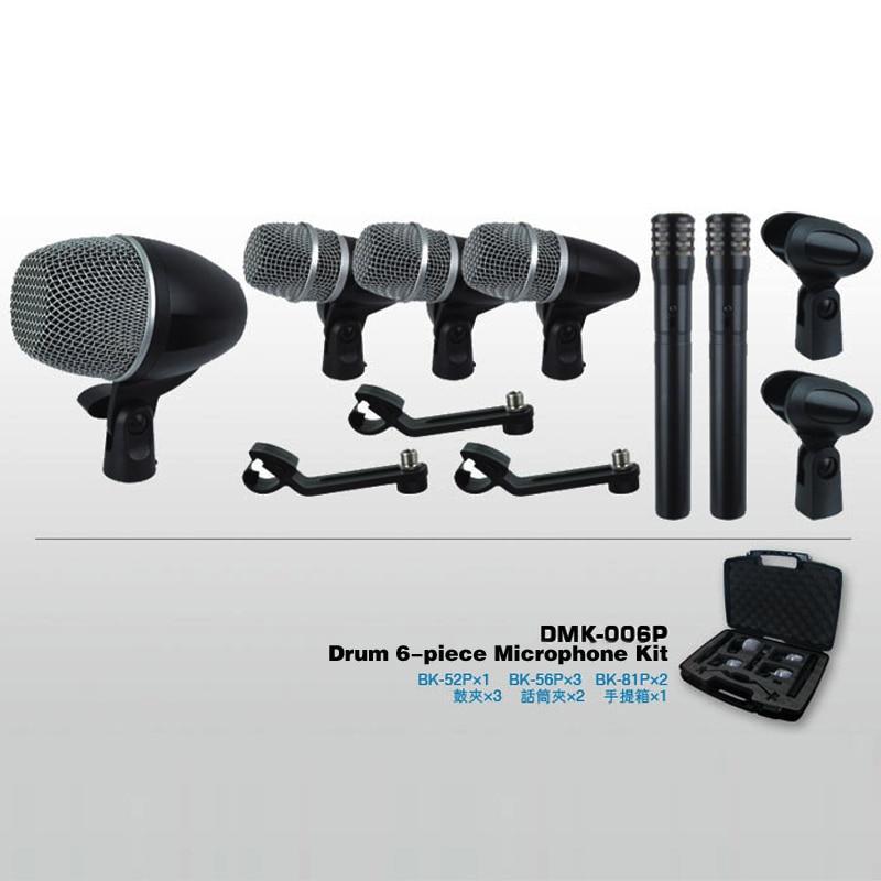 Professional Musical Instrument drum mic microphone set with 2 MK6 microphone drum microphone kit