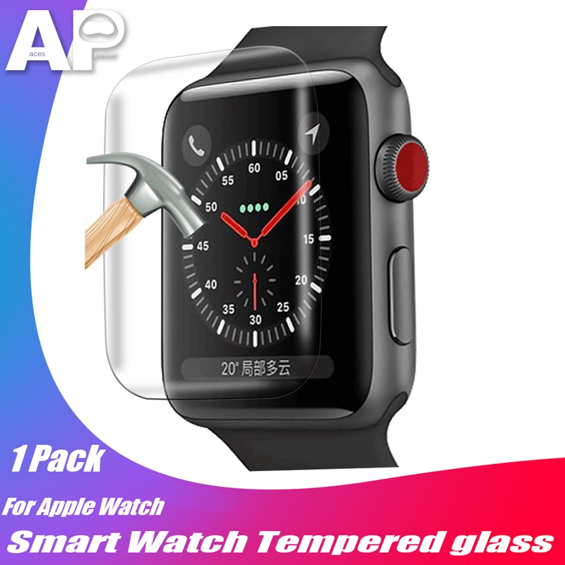 Tempered-Glass Screen-Protector 38mm Curved-Edge Apple for Watch 42mm 40mm 44mm-Series