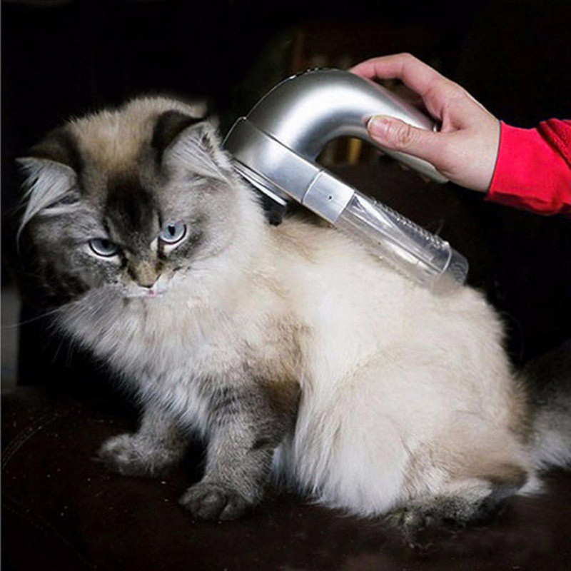Pet Electrical Hair Fur Remover Shedding Grooming Brush Comb Dog Cat Puppy Vacuum Cleaner Trimmer Machine