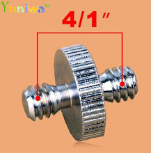 """50pcs/lot Camera Accessories 1/4"""" Male to 1/4"""" Male Threaded Metal Screw Adapter For Camera Tripod Stand DSLR SLR Accessories"""