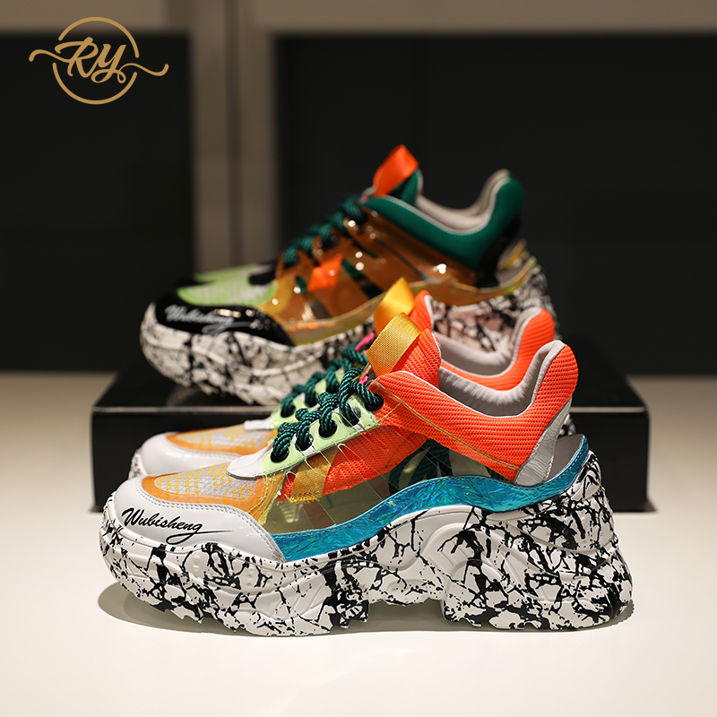 RY-RELAA femmes baskets 2018 été chaussures de luxe femmes designers en cuir véritable plate-forme chaussures blanc femmes chaussures décontractées INS