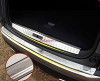 2pcs Accessories Stainless Steel Inner Outer Rear Bumper Protector Plate Cover Trim For Peugeot 3008 GT