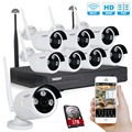 Tmezon HD 8CH Wireless WIFI Security Surveillance NVR System 8Pcs 960P 1.3MP Camera ONVIF IR Night Vision Waterproof 1TB 2TB Kit