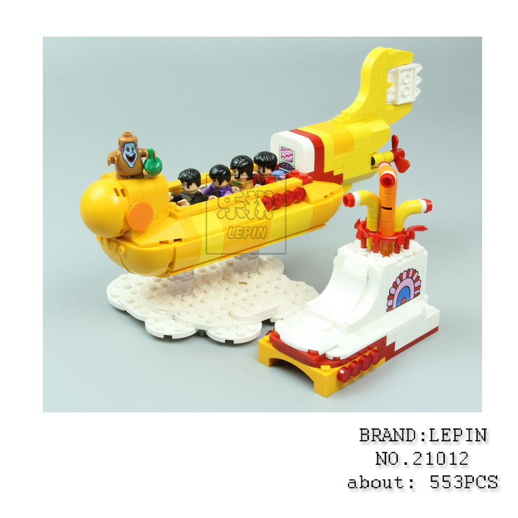Lepin 21012 The Beatles John Winston Lennon Paul McCartney Harrison Ringo Starr Yellow Submarine Building Blocks Models Toys