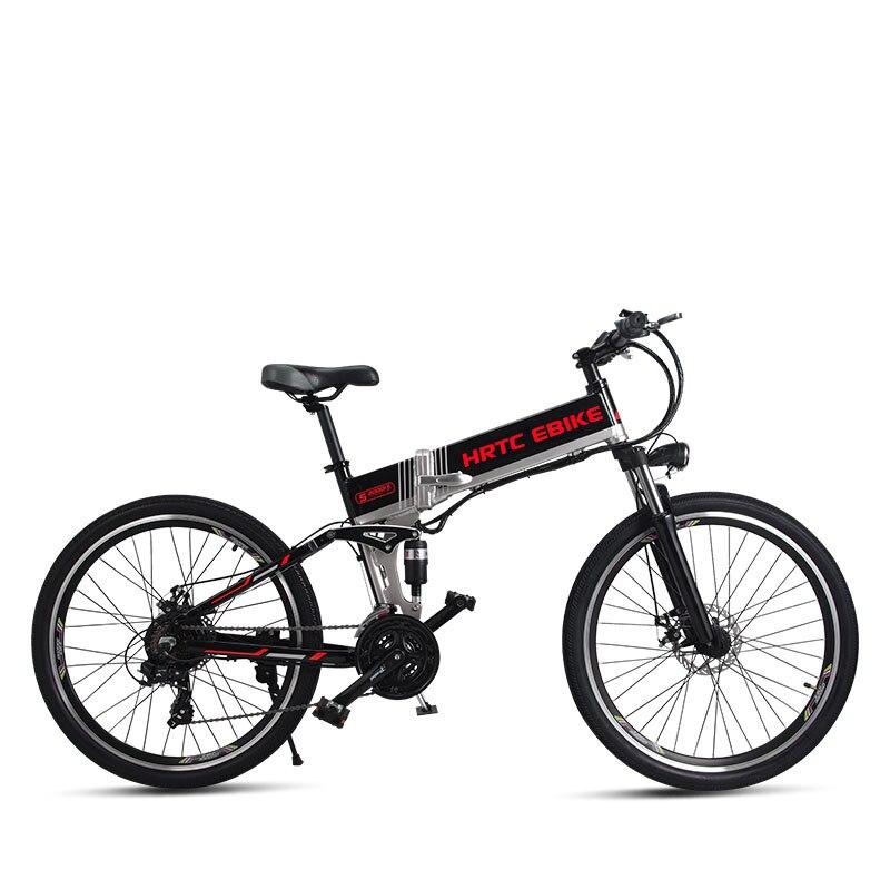 Bicicleta de Montaña eléctrica de 26 pulgadas 500 W de alta velocidad 40 km/h plegable bicicleta eléctrica 48 v batería de litio marco oculto EMTB off-road ebike