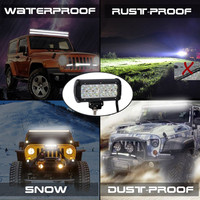Universal 7 Inch 36W 6000K Cree LED Day Light Running Work Light Bar Black For Motorcycle
