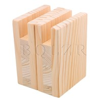 2PCS 2x10CM Groove Wood Furniture Lifter Bed Sofa Table Risers Add 10cm BQLZR