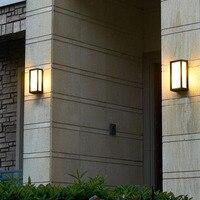 مصابيح جدران خارجية الألومنيوم سور شرفة الفيلات المجتمع الجدران Sconse حديقة الزخرفية أضواء فيلا E27