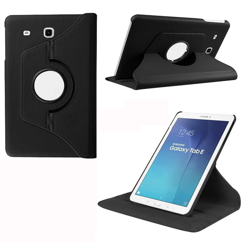 PU Leather Smart Cover Tablet Case For Samsung Galaxy Tab E 9.6 SM T560 T561 360 Rotating Flip Case With Stand Function funda