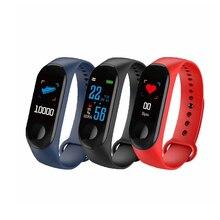 Su geçirmez spor akıllı sağlık bilezik uyku fitnes aktivite takip cihazı nabız monitörü akıllı bileklik renkli LCD ekran izle