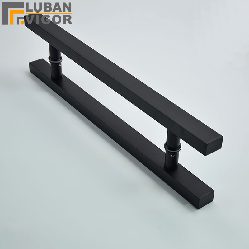 So good,matt black Stainless steel glass / wooden door handle, Strong and durable ,Fine texture,door hardwareSo good,matt black Stainless steel glass / wooden door handle, Strong and durable ,Fine texture,door hardware