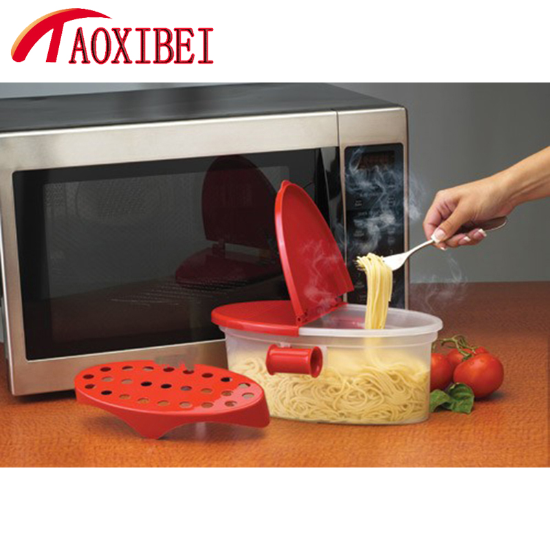 Noodles In Microwave Oven: TAOXIBEI Pasta Box Microwave Oven Spaghetti Noodles Box