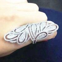 AlooWay fashion peacock fancy long design ring fashion accessories women's jewelry