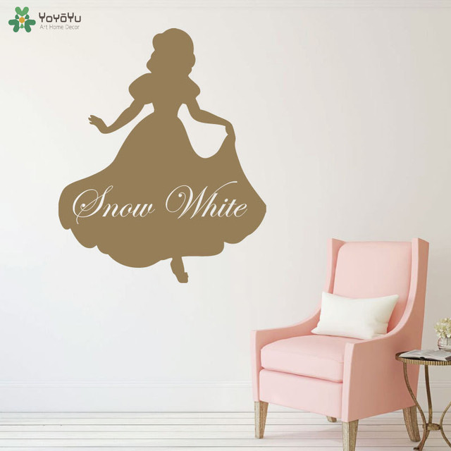 snow white wall decal princess cartoon vinyl wall stickers for kids