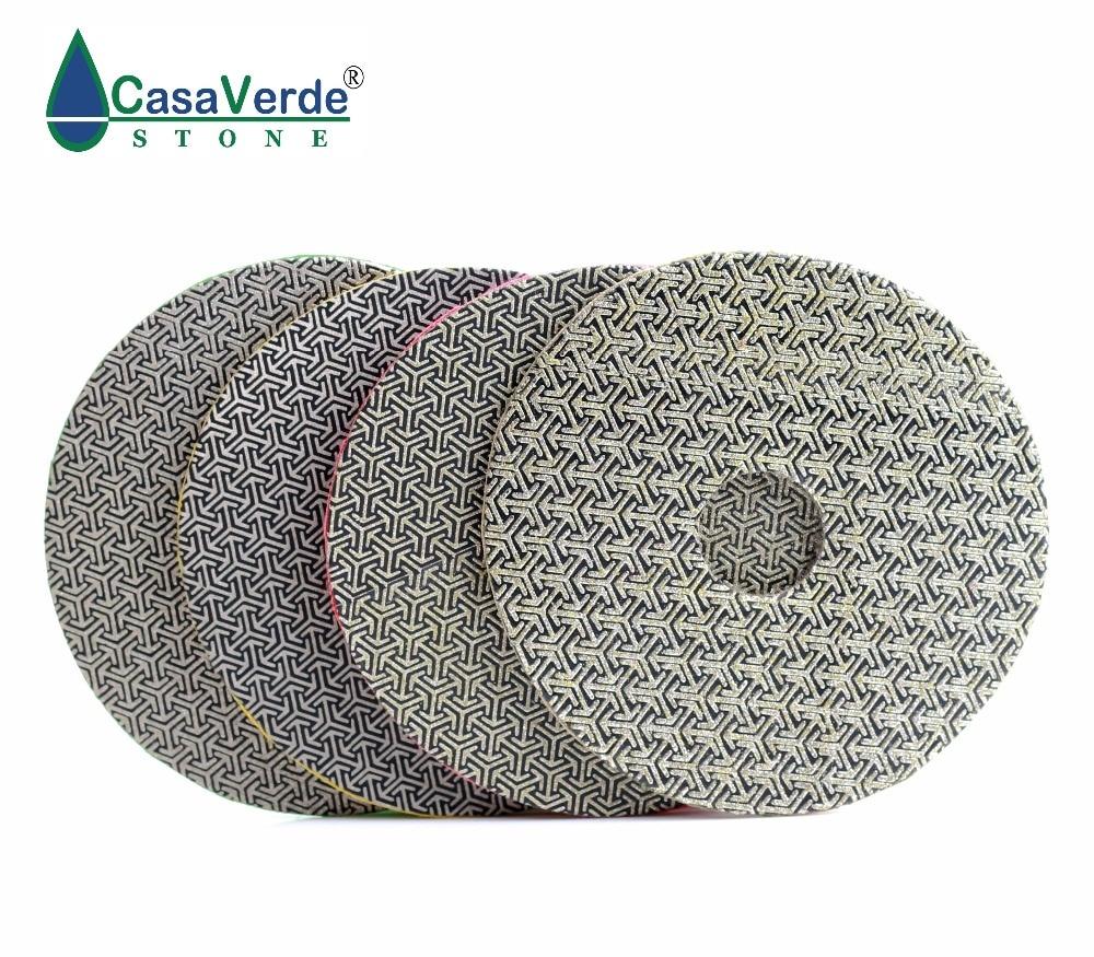 4 inch 100mm diamond Electroplated polishing Pad 4pcs Set Fast Removal Tile Glass Concrete Stone Sanding
