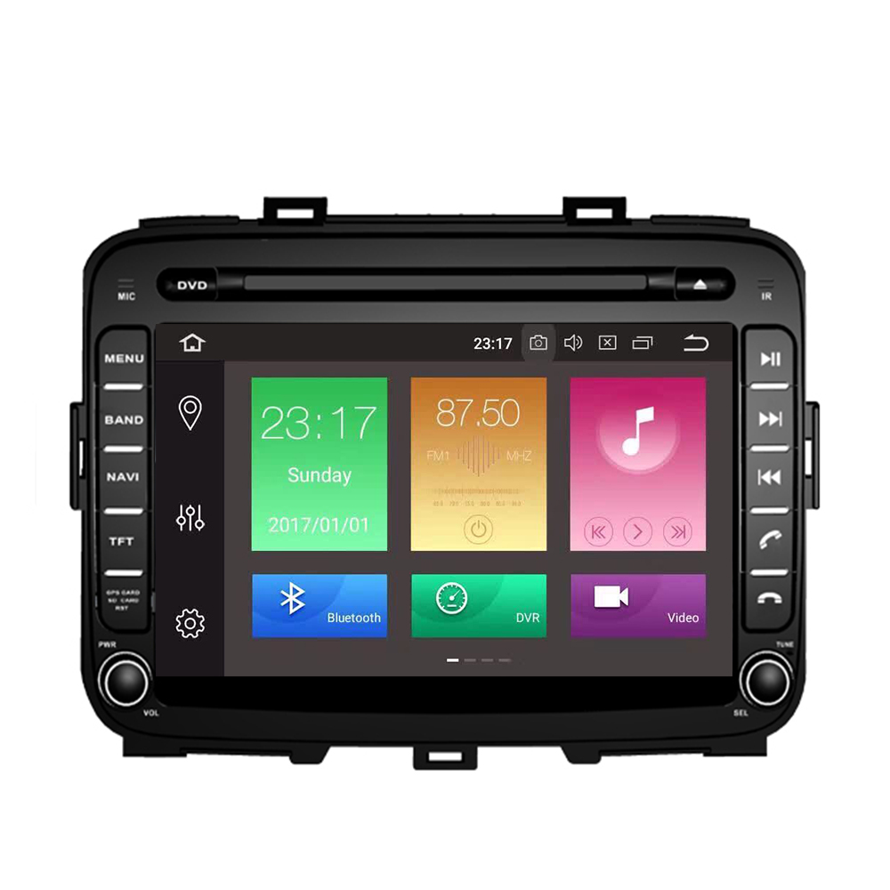 8 Core Car Android 9.0 32G+4G GPS DVD Player For KIA CARENS 2013 2014 2015 2016 17- 2019 8 radio Video Player 2Din Navigation image