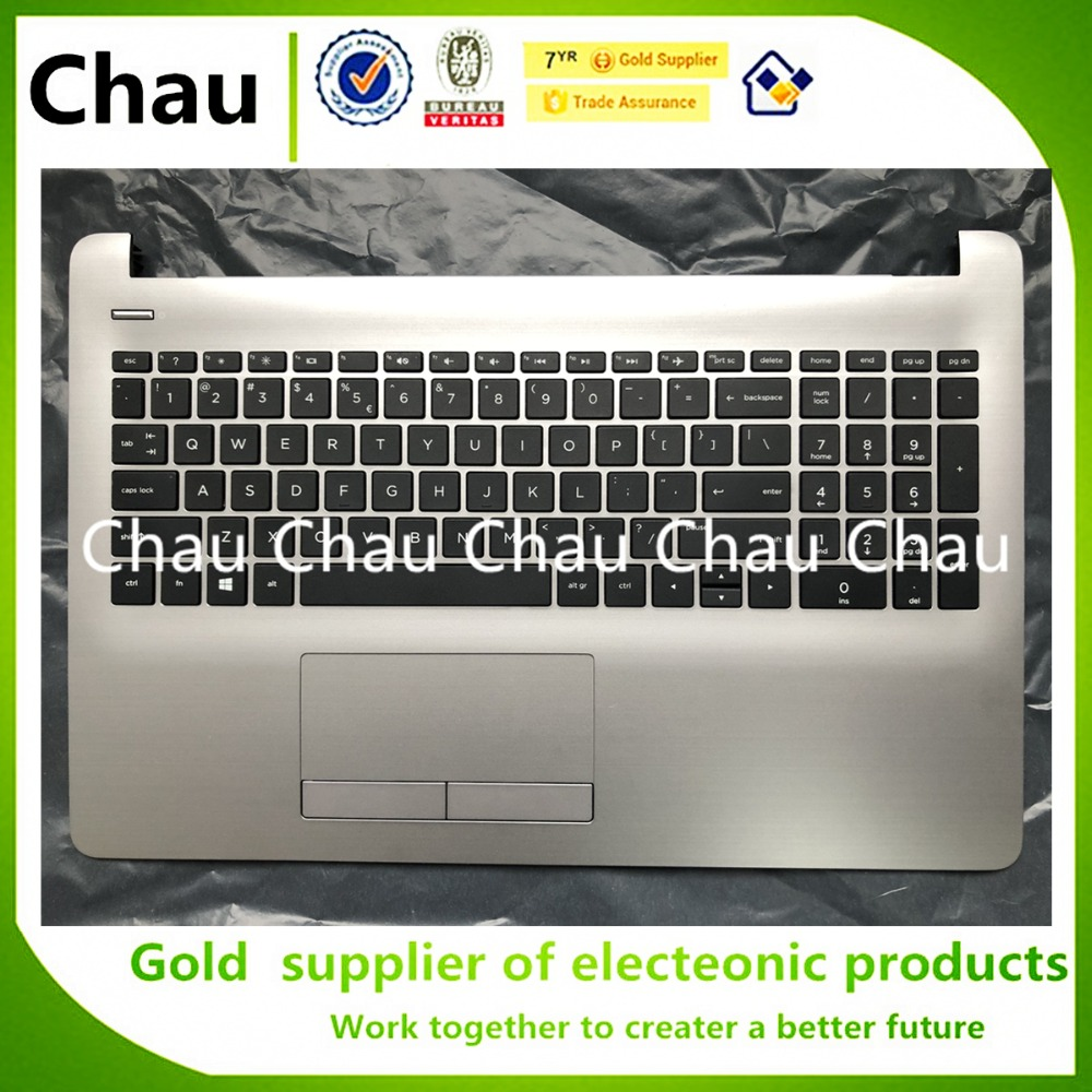 New For HP 15 BS 15 CD 15 BS015DX TPN C129 TPN C130 250 255 256 G6 PK132043A00 US keyboard Palmrest Upper Cover S No touchpad