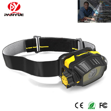 PANYUE 1000LM LED Mini Headlamp COB Red Light 5-Mode Headlight IPX5 Waterproof Head Torch Hunting Camping Outdoor Lighting