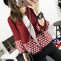Free shipping New Fashion 2017 Autumn Spring Women Oversized Cardigans  Sweaters Knitted Christmas Sweater Dress